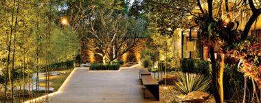 Como iluminar o seu jardim